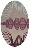 rug #581413 | oval pink retro rug