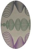 rug #581437 | oval purple retro rug