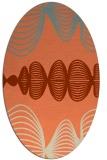 rug #581453 | oval orange circles rug