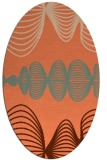 rug #581457 | oval abstract rug