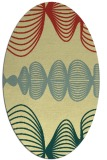 rug #581461 | oval yellow abstract rug