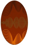 rug #581513 | oval red-orange abstract rug