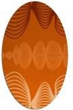 rug #581517   oval red-orange circles rug