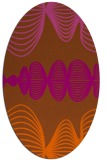 rug #581521 | oval red-orange abstract rug