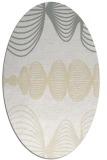 rug #581541 | oval white abstract rug