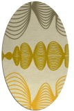 rug #581545 | oval yellow abstract rug