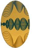 rug #581561 | oval light-orange abstract rug