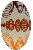 rug #581573   oval orange circles rug