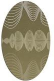 rug #581581 | oval light-green rug