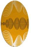 rug #581593   oval light-orange circles rug