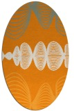 rug #581601 | oval light-orange circles rug