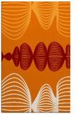 rug #581801 |  orange circles rug