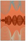 rug #581805 |  orange circles rug