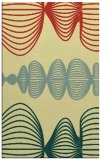 rug #581813 |  yellow retro rug