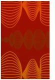 rug #581853 |  orange circles rug
