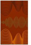 rug #581865 |  red-orange circles rug
