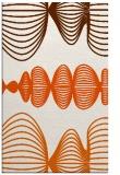 rug #581877 |  red-orange circles rug