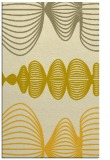rug #581897 |  yellow circles rug