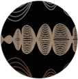 rug #581977 | round black abstract rug