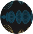 rug #581981 | round brown retro rug