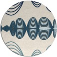 rug #581985 | round white abstract rug