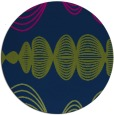 rug #581997 | round green abstract rug