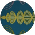 rug #582021 | round green abstract rug