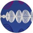 rug #582065   round blue-violet retro rug