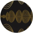 rug #582077 | round black abstract rug