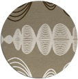rug #582101 | round white abstract rug