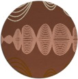 rug #582105   round brown abstract rug