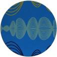 rug #582129 | round blue circles rug