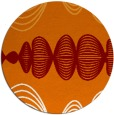 rug #582153 | round orange abstract rug