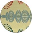 rug #582165 | round yellow retro rug