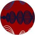 rug #582201 | round red retro rug