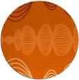 rug #582221 | round red-orange retro rug