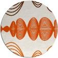 rug #582229   round red-orange circles rug