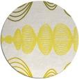 rug #582237 | round white circles rug