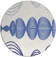 rug #582241 | round blue rug