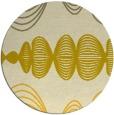 rug #582249 | round yellow circles rug