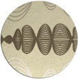 rug #582253 | round yellow circles rug
