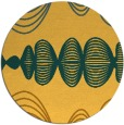 rug #582265 | round yellow retro rug
