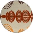rug #582277 | round orange circles rug