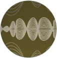 rug #582293 | round light-green circles rug