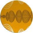 rug #582297 | round light-orange circles rug