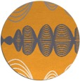 rug #582309 | round white abstract rug