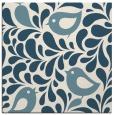 rug #584449   square blue-green animal rug