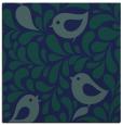 rug #584457 | square blue-green animal rug