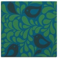 rug #584505 | square blue-green animal rug