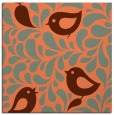 rug #584625 | square orange animal rug